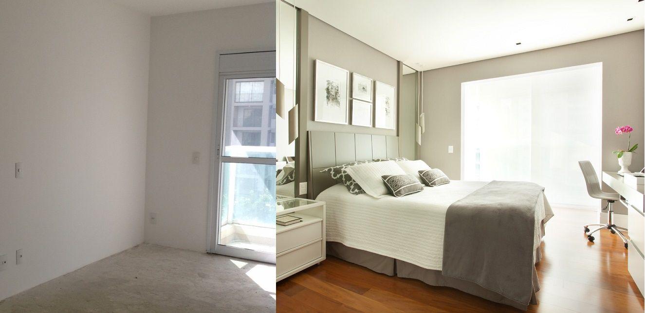 A Transforma O Do Quarto De Casal Que Ganhou Um Closet Integrado  ~ Decoração Quarto Casal Com Closet