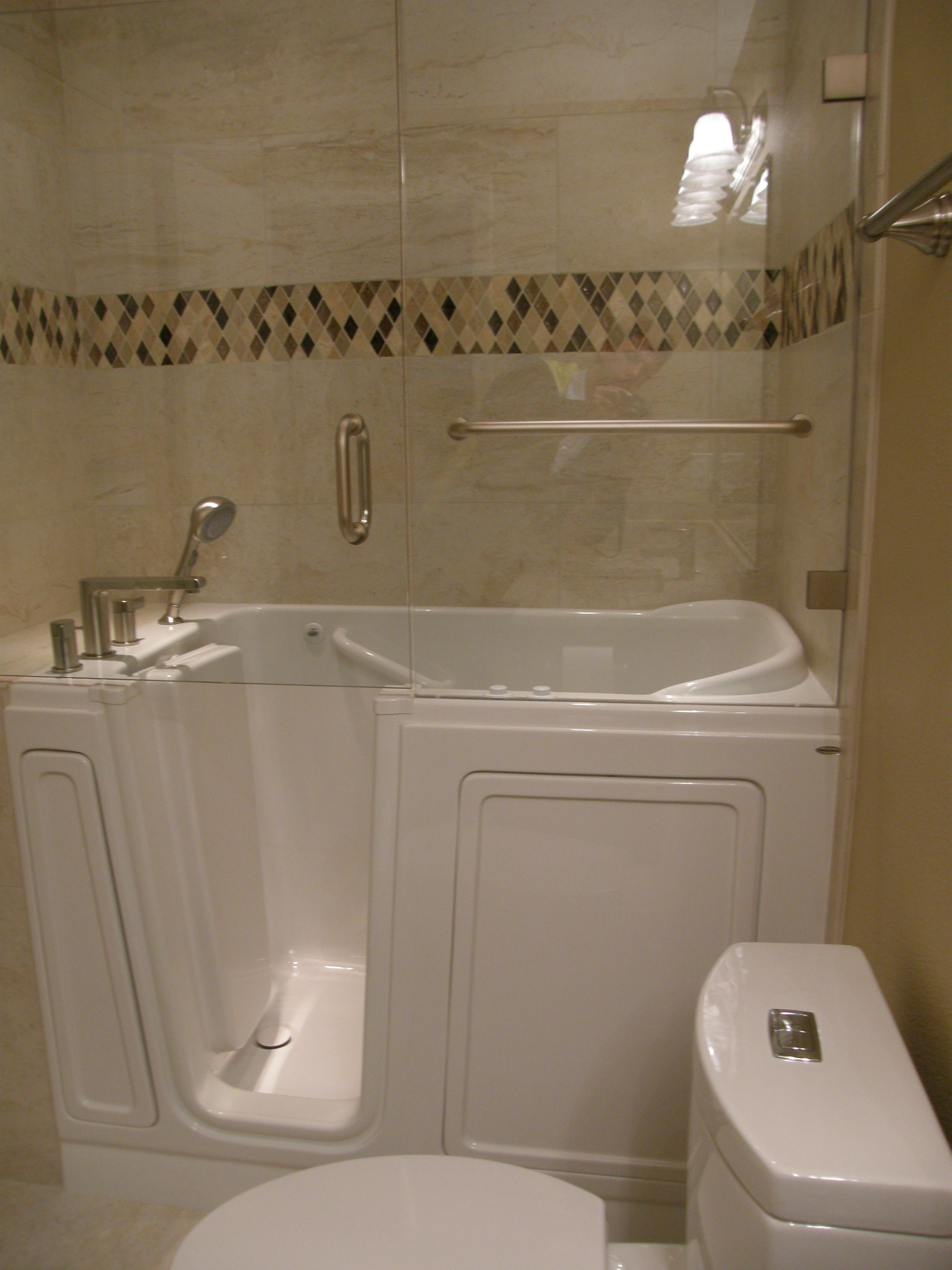 Ada Tub Shower With Images Jet Tub Shower Combo Bathroom Tub - Bathtub Shower Combo For Small Spaces