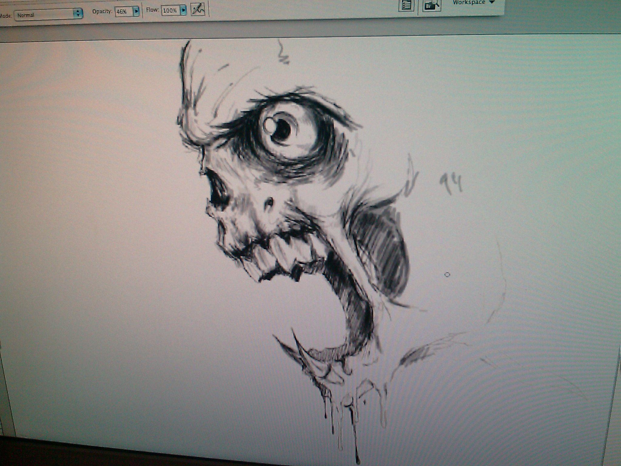 Custom Realistic Evil Skull Sketch | Inked Ideas ...