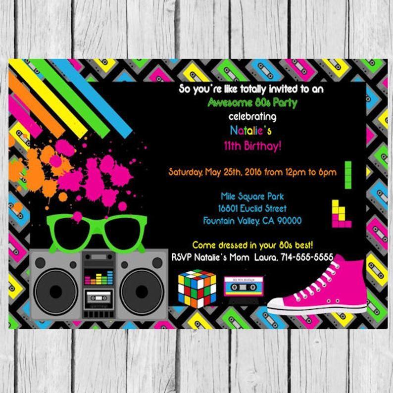 Einladung Tetris Tetris Tetris Geburtstags Party Tetris Etsy