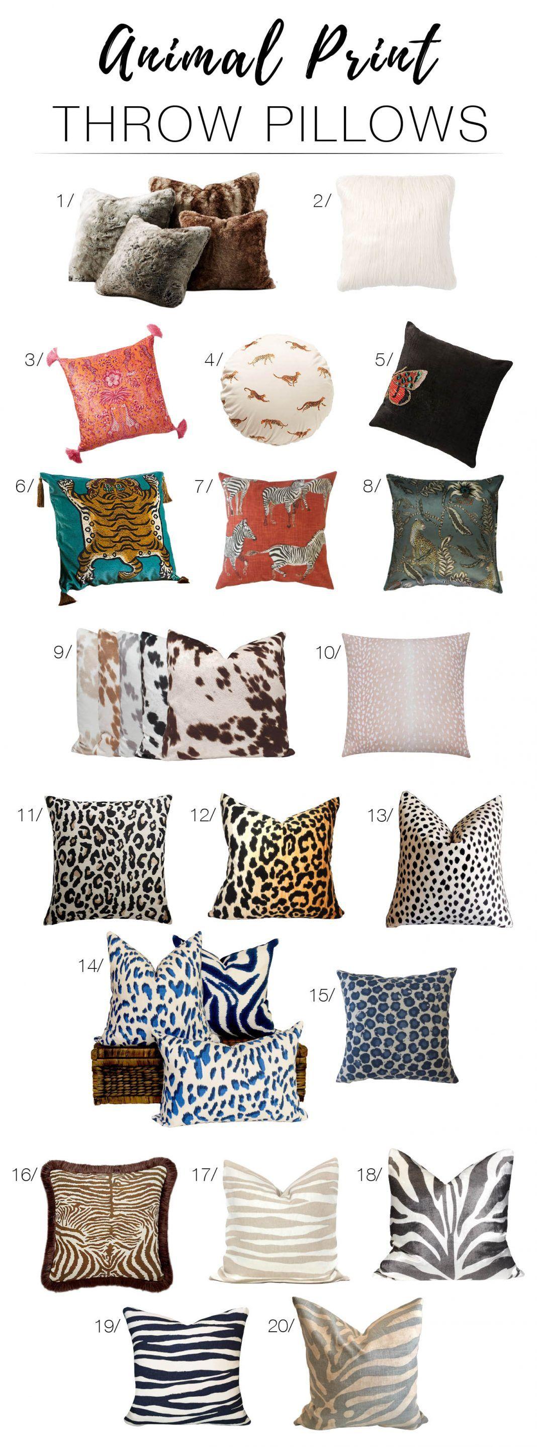 20 Amazing Animal Print Pillows: Let Your Inner Wild Child Roar