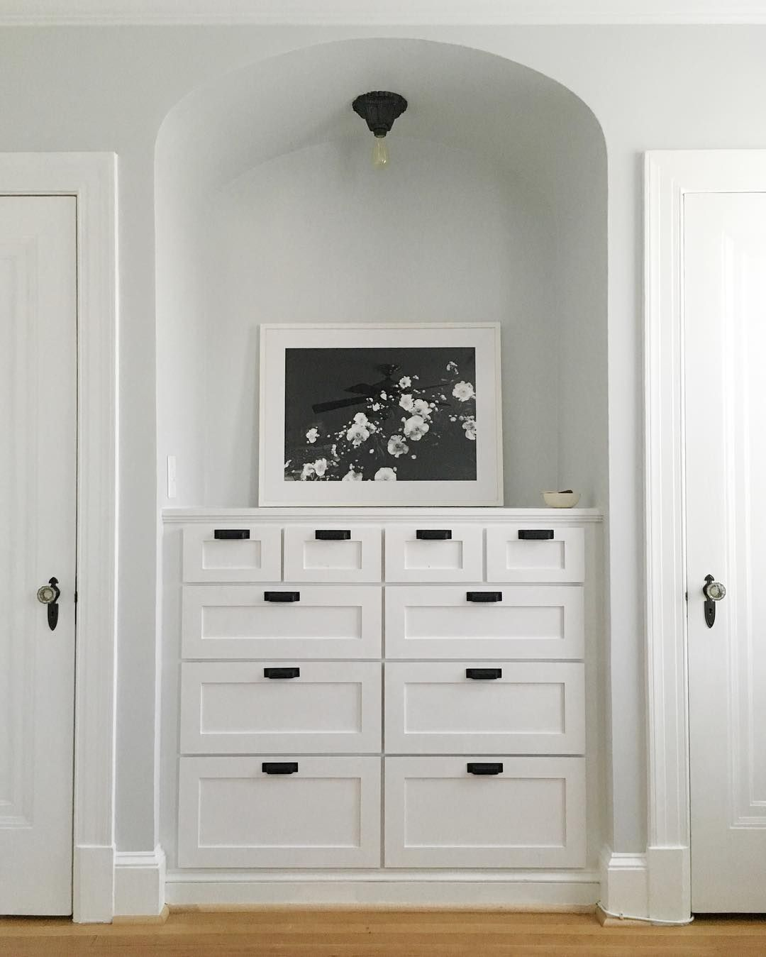 Gorgeous built-in dresser ft. a print by Julia Kostreva in our ...