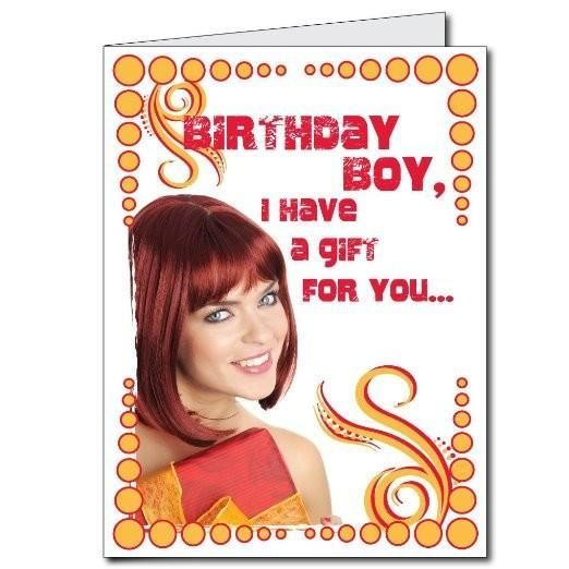 2x3 Giant Birthday Card Wenvelope Red Head With A Gift Free