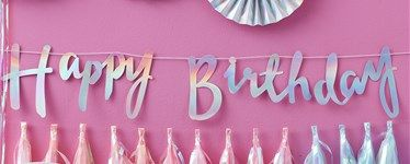 Iridescent Party Happy Birthday Letter Bunting 15m jovis 1st