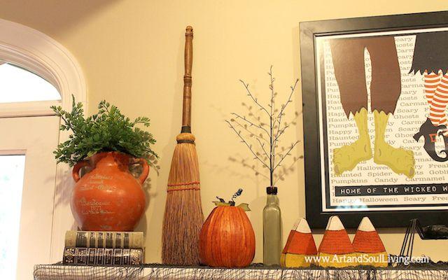 Interior Halloween Decorating Ideas wwwArtandSoulLiving - halloween decorating ideas indoor