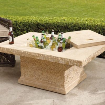 Faux Stone Outdoor Coffee Table And Beverage Tub. Thats What Iu0027m Talking  About! :) | Home | Pinterest | Outdoor Coffee Tables, Faux Stone And Tubs