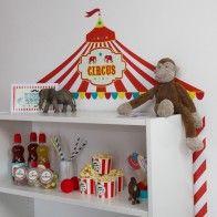 Kaufladen Selber Bauen wandfolie zirkus kaufladen selber bauen mit ikea billy