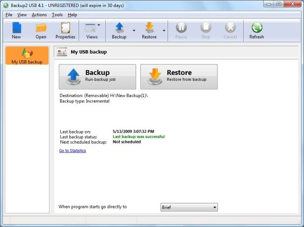 Backup2 USB is a powerful backup program for Windows that lets you