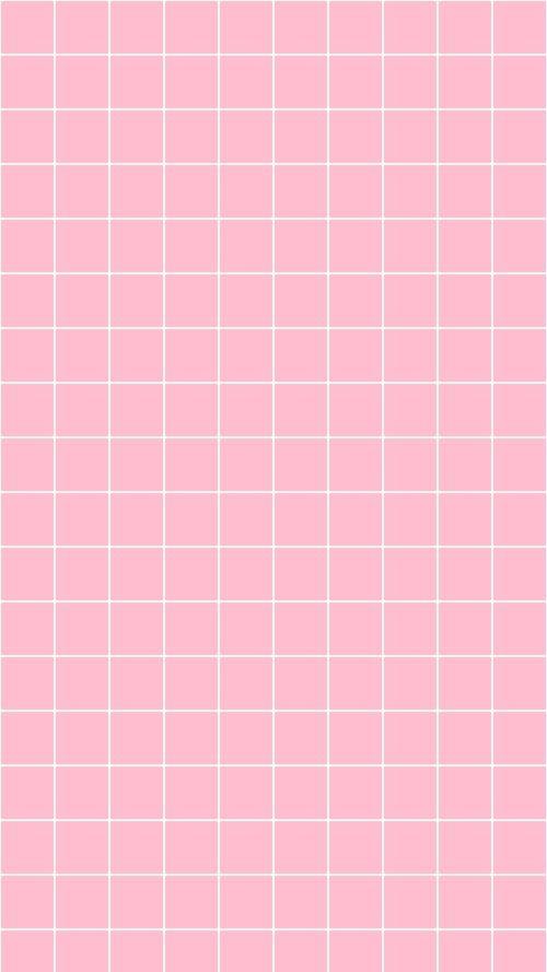 Pastel Pink Grid wallpaper Pink wallpaper iphone