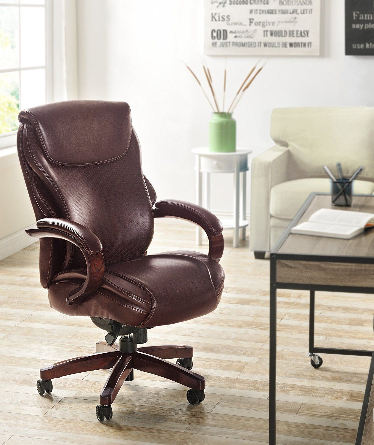 La Z Boy Delano Big Tall Executive Bonded Leather Office Chair Best For Person