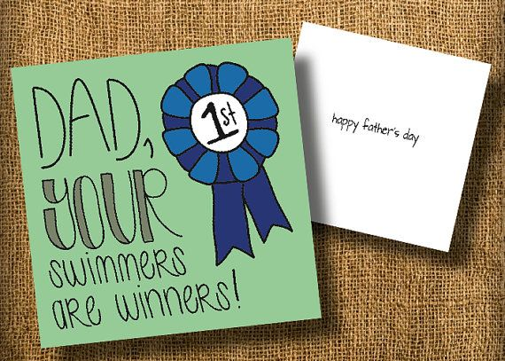 Little Swimmers Father's Day Card (1) - $4.50
