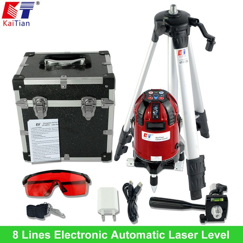 Us 240 49 Kaitian Rotary Laser Level Tripod With Electronic Automatic Slash Function 8 Lines Automatic Electronic Function Kaitian Laser Level Lines
