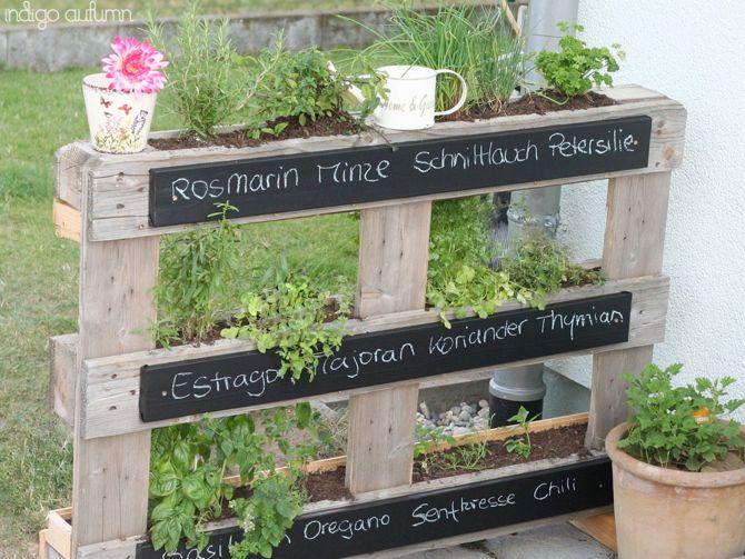vertikaler palettengarten | eigenes gemüse – auch ohne garten, Hause und garten