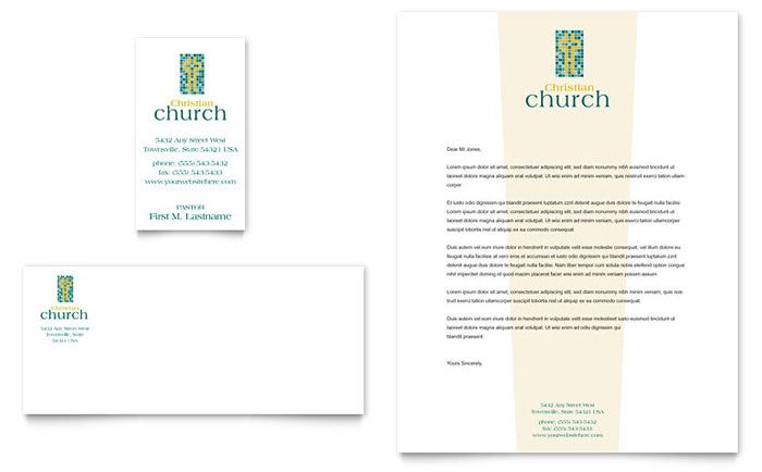 Christian Church Business Card and Letterhead Template Design by - psd letterhead template