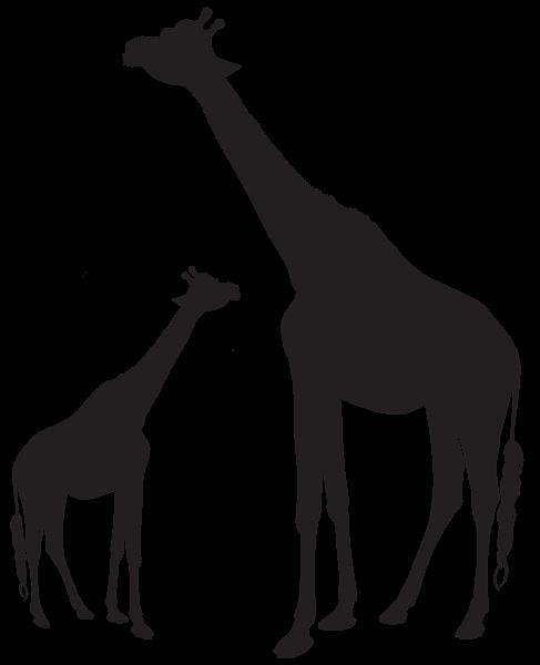 Giraffes Silhouette Png Clip Art Image Giraffe Silhouette Elephant Silhouette Africa Painting