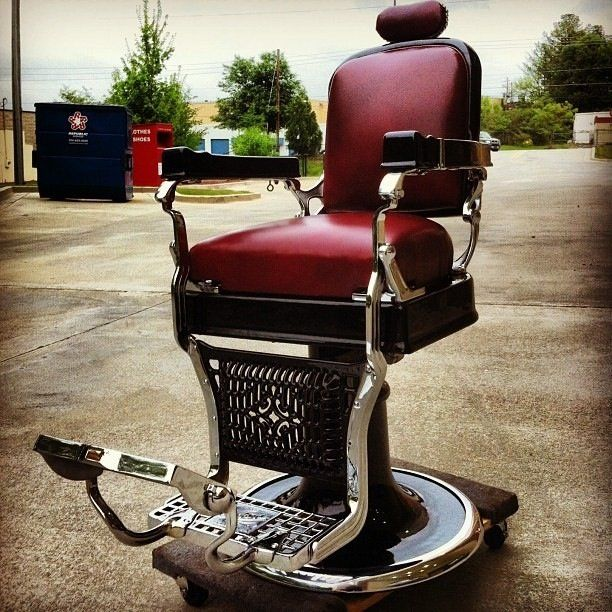 Antique Barber Chairs and Parts is part of Barber shop decor - K uses Gentlemint to find and share manly things  Get started today