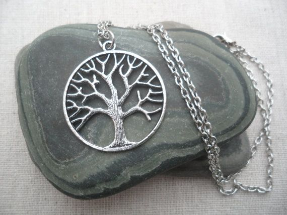 Silver Tree Necklace Tree of Life Silver by TigerFlowerJewelry