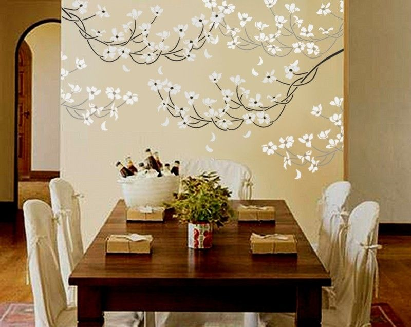 STENCIL For Walls   Flowering DOGWOOD Branch   Large, REUSABLE Flower Wall  Stencil