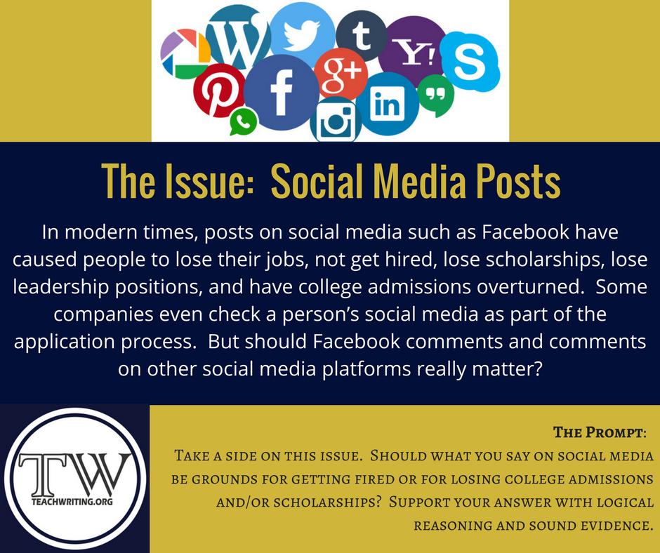 social media writing prompt