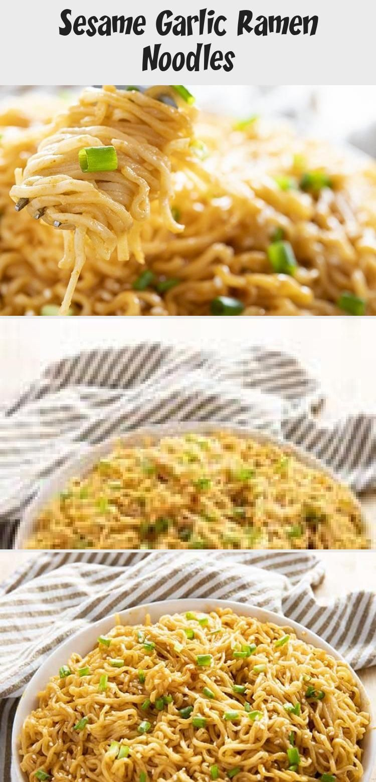 Sesame Garlic Ramen Noodles Recipe - The best ramen noodle recipe made easy at h...-#Easy #garlic #hamburgermeatrecipes #mushroomrecipes #noodle #noodles #pioneerwomanrecipes #ramen #ramennoodlerecipes #recipe #sausagerecipes #sesame #tacorecipes #thairecipes #whole30recipes- Sesame Garlic Ramen Noodles Recipe – The best ramen noodle recipe made easy at home with a simple and super flavorful sauce! Learn how to make ramen taste even better in a snap! #noodles #ramennoodles #easydinnerrecipes