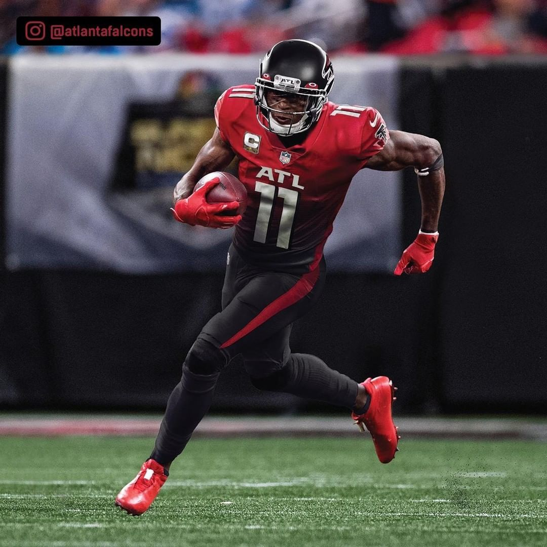 Nfl On Instagram First Look At Julio Jones In The Falcons New Unis Via Atlantafalcons In 2020 Atlanta Falcons Football Julio Jones Nfl Uniforms