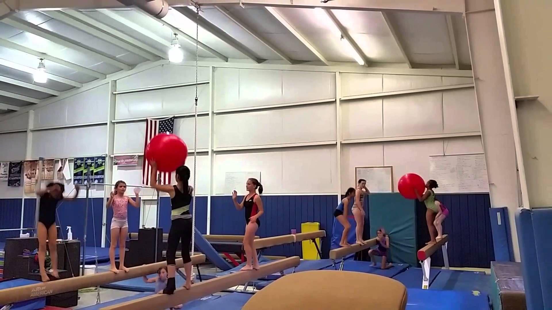BEAM BALL (Gymnastics/Fitness/Games) Gymnastics games