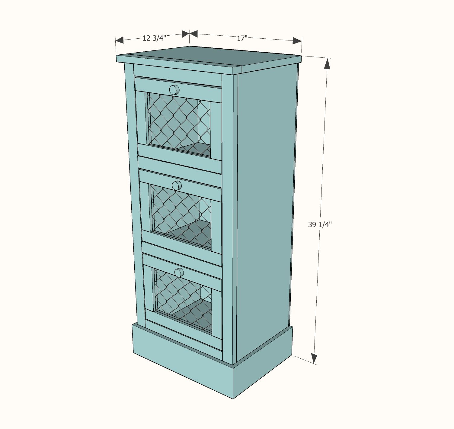 Ana White | Build a Vegetable Bin Cupboard | Free and Easy DIY ...