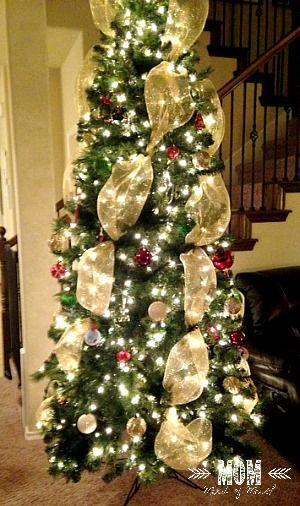 deco mesh christmas tree - Christmas Tree With Mesh