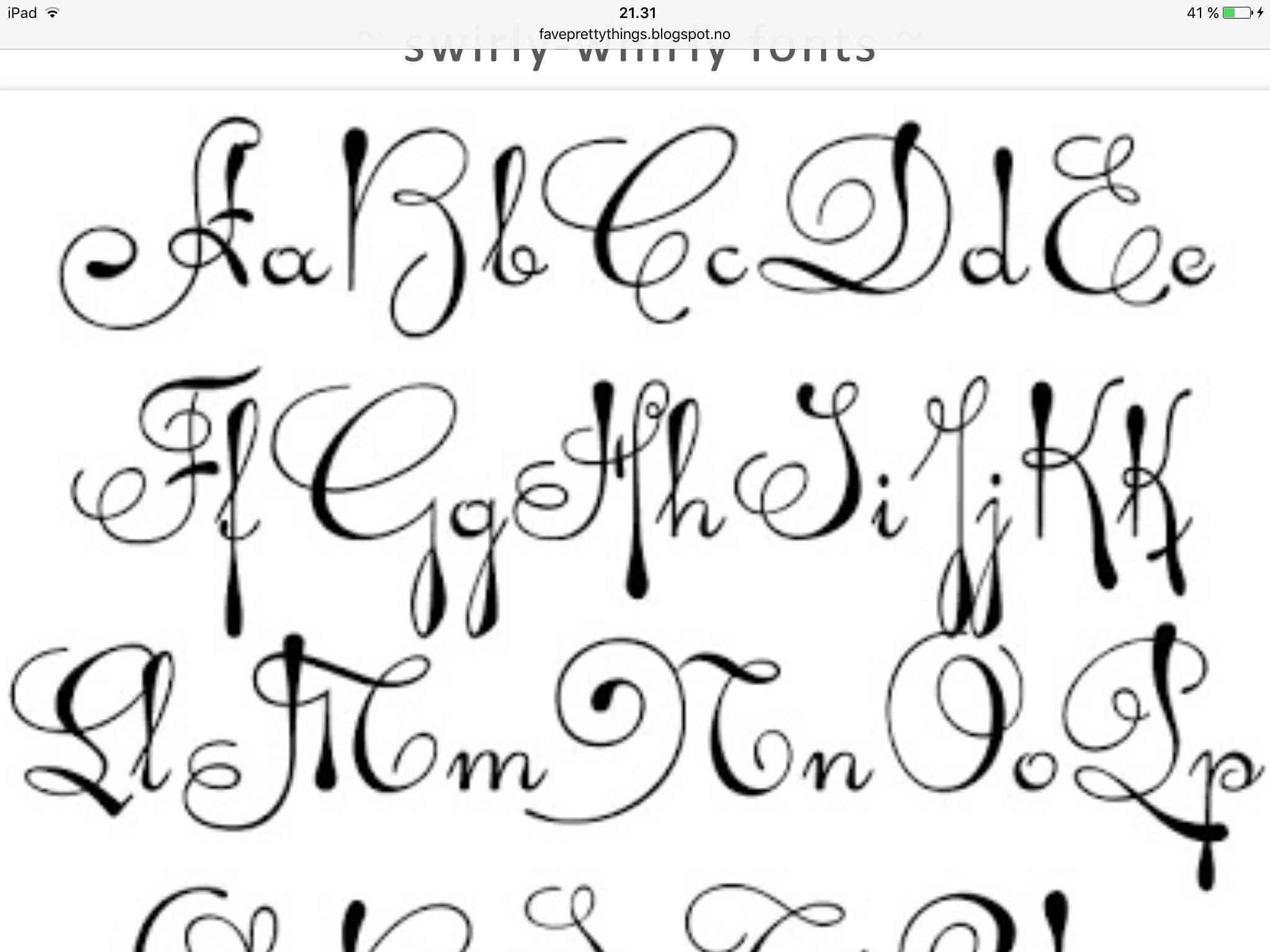 Luxury Fancy Cursive Fonts Alphabet For Tattoos