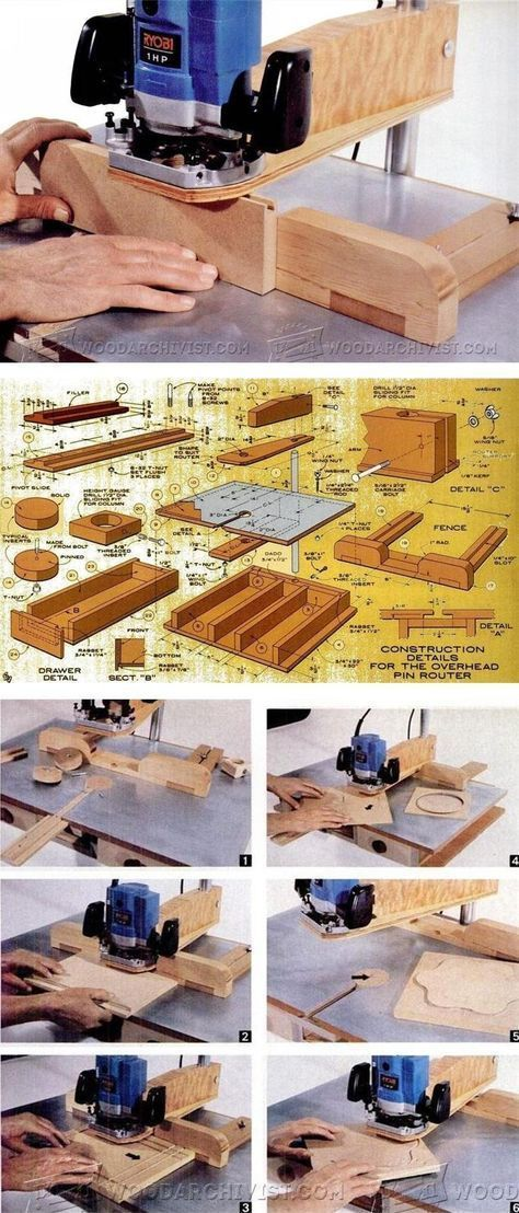 DIY Pin Router - Router Tips, Jigs and Fixtures ...
