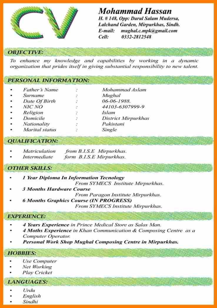 10 Cv Format 2017 South Africa Science Resume Large