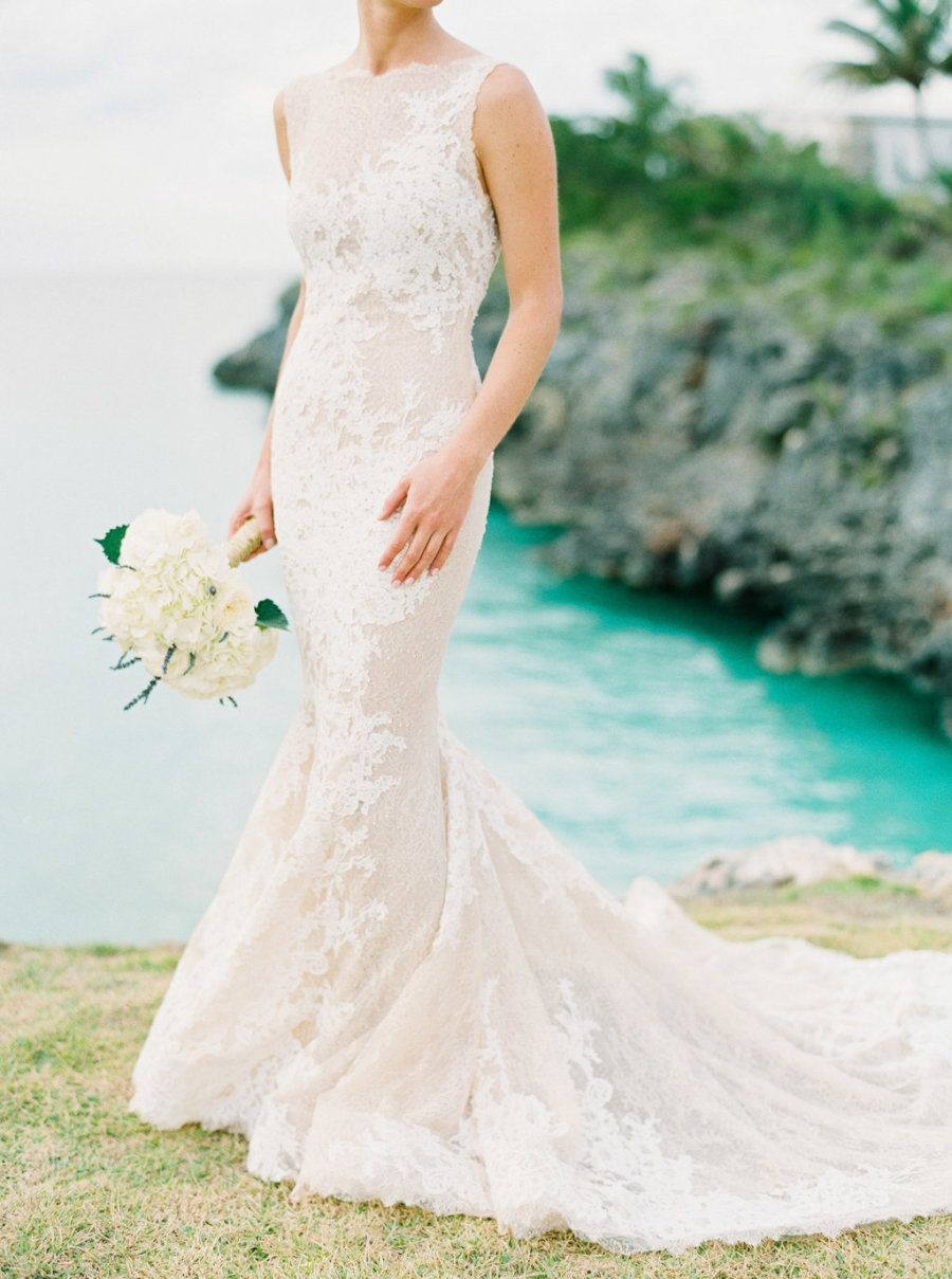 Romantic white destination wedding in the bahamas from hunter ryan