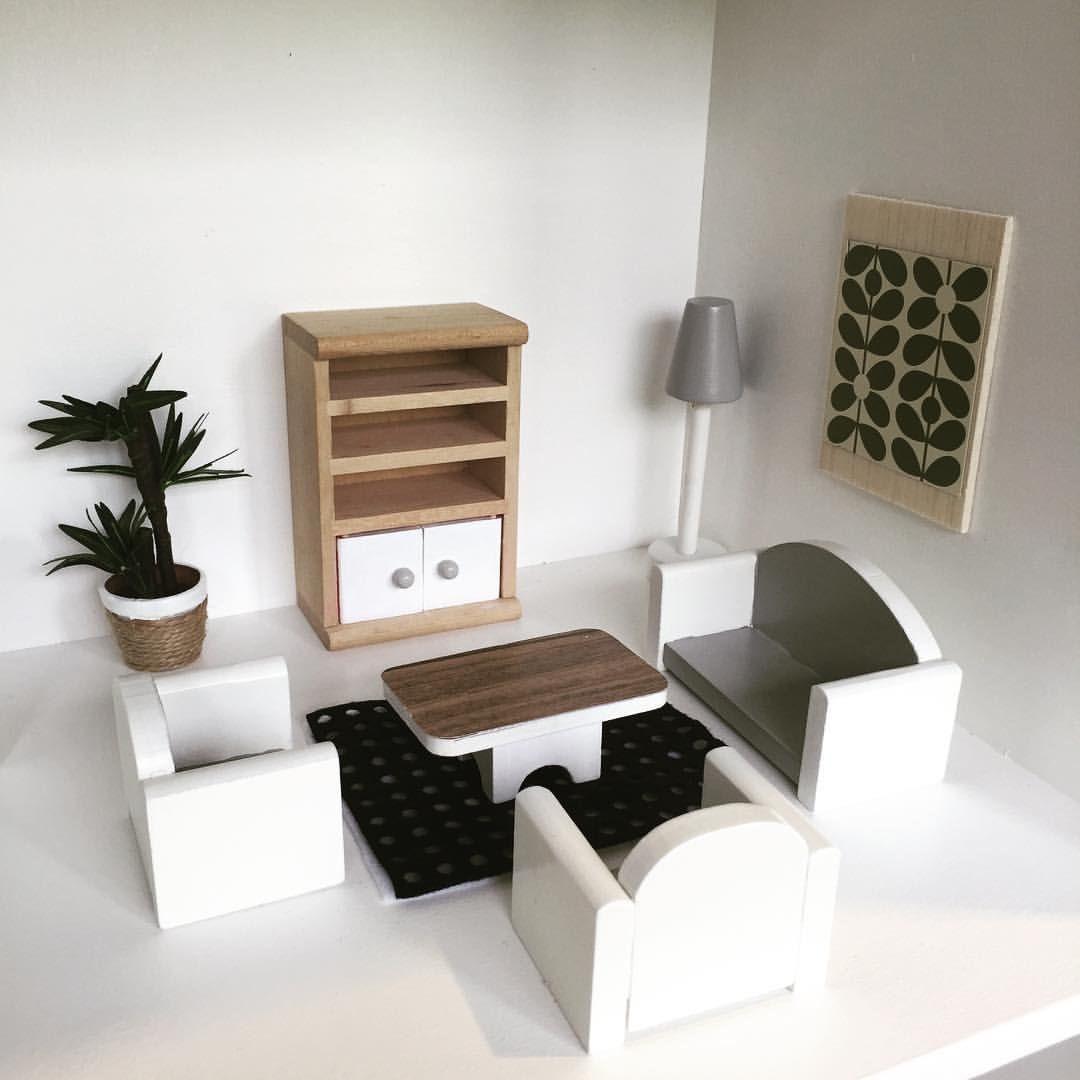 The living room. A mini @OrlaKiely print! #moderndollhouse ...
