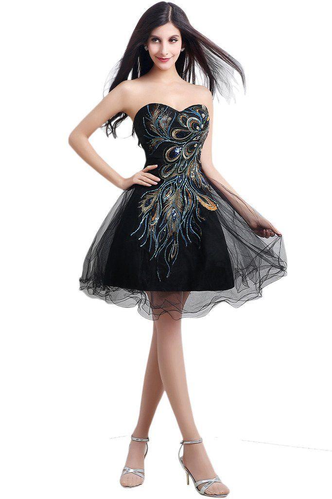 AmazonSmile: Audrey Bride Girls Short Homecoming Dress Phoenix Prom ...