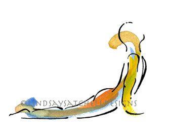 crow pose  yoga art print  yoga gifts yoga studio decor