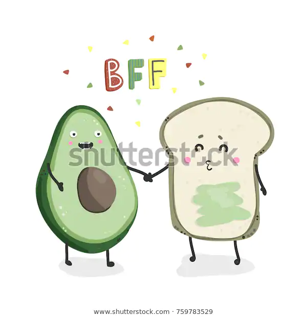 Avocado Toast Best Friends Forever Hand Stock Vector Royalty Free 759783529 Best Friends Forever Friends Forever Best Friends Sister