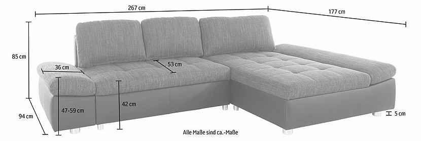 Sit More Polsterecke Fabona Wahlweise Mit Bettfunktion