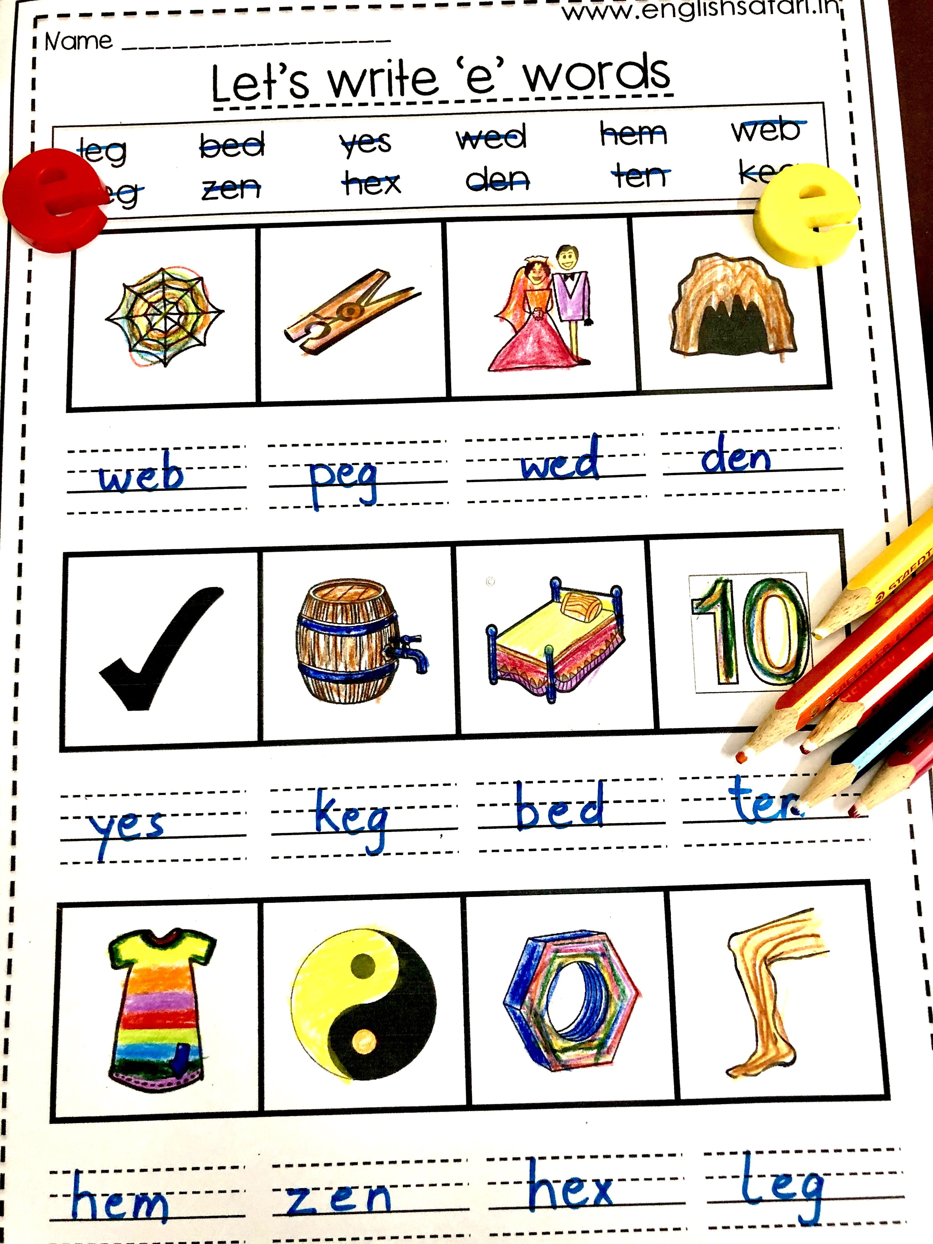 Three Letter Words Worksheets Free With Images