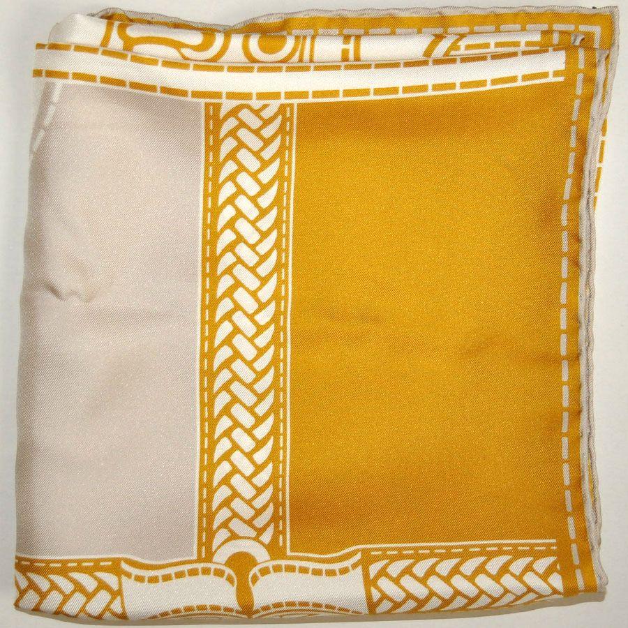 Nuovi Prodotti 4668c 7e02a Beautiful mustard gray silk foulard - Discount FENDI ...