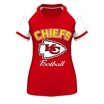 The Go for Two IV Tee is a short sleeve raglan V-neck tee with raw cut sleeve stripes and lots of Kansas City Chiefs pride. The full-color name and...