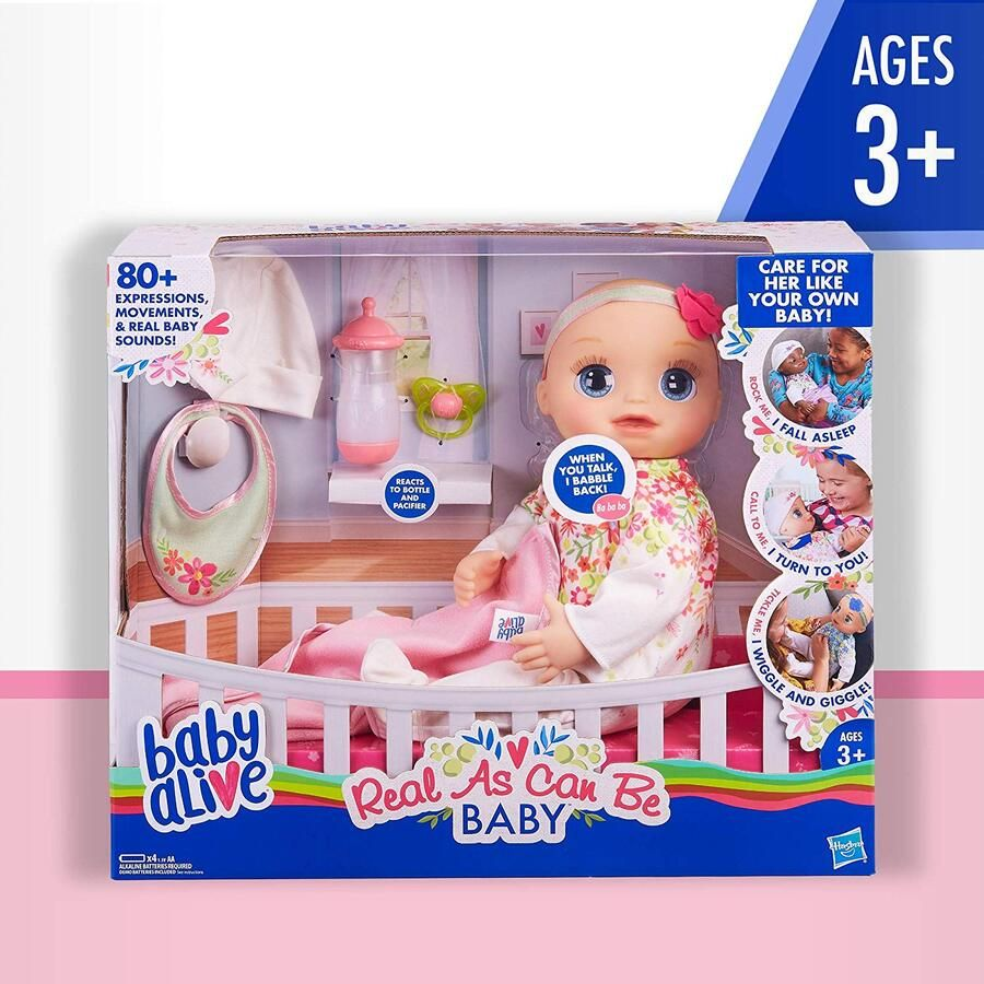 Hasbro Baby Alive Real As Can Be Baby Blonde Baby Alive Baby Alive Baby Alive Dolls Cute Baby Dolls