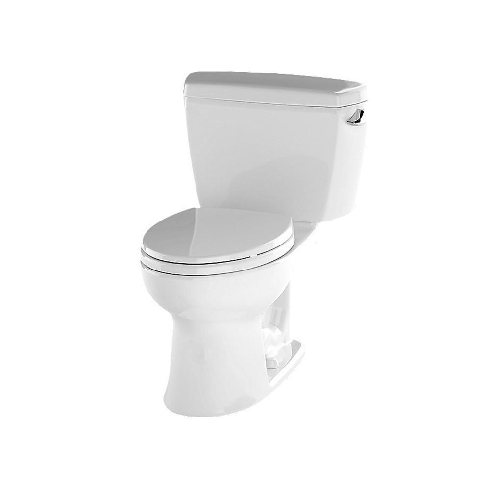 Toto Drake Ada Compliant 2 Piece 1 6 Gpf Single Flush Elongated Toilet In Cotton White Cst744sl 01 Toilet Toilet Cleaning Close Coupled Toilets
