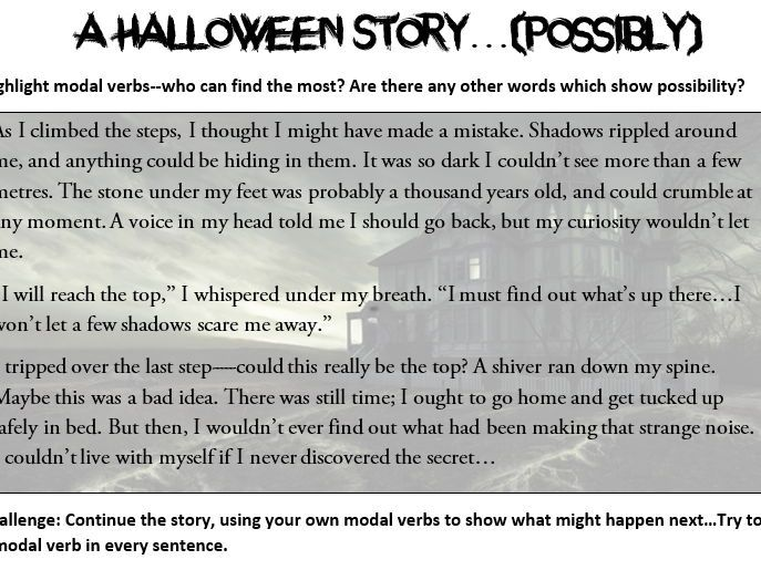Modal Verbs Worksheets (Halloween Themed) | Arbeitsblätter ...