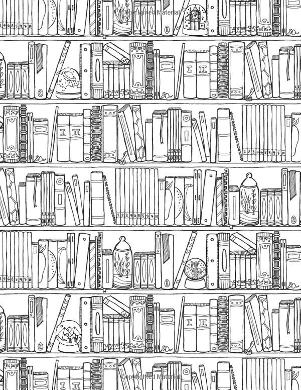 off the bookshelf coloring book 45 weirdly wonderful designs to color for fun relaxation samarra khaja