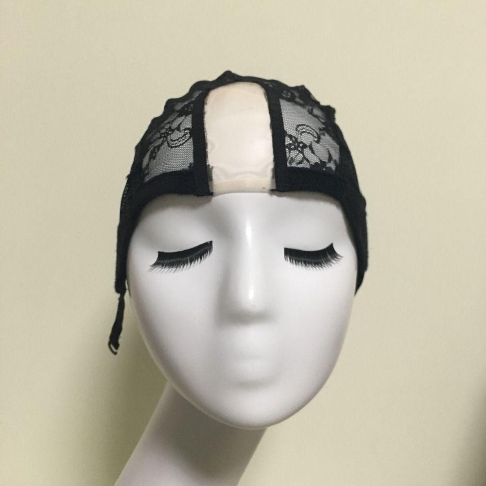 U Deel Lijmloze Kant Pruik Cap Voor Maken Pruiken Met Verstelbare bandjes Weven Caps Voor Vrouwen Haar Netto & Haarnetjes Easycap 6024