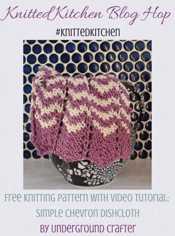 Knitting Pattern: Simple Chevron Dishcloth