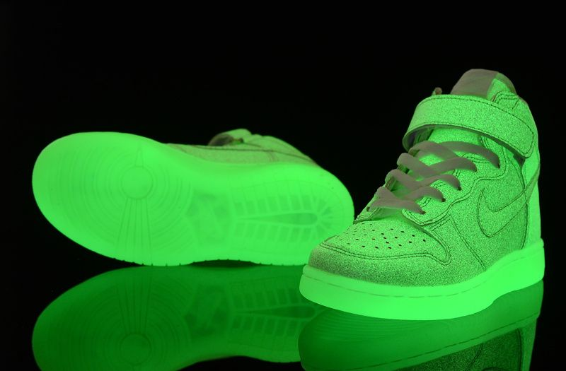 Nike Dunk Shoes For Kids Glow in the dark