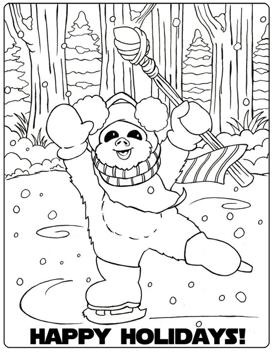 Star Wars Christmas Coloring Pages 1