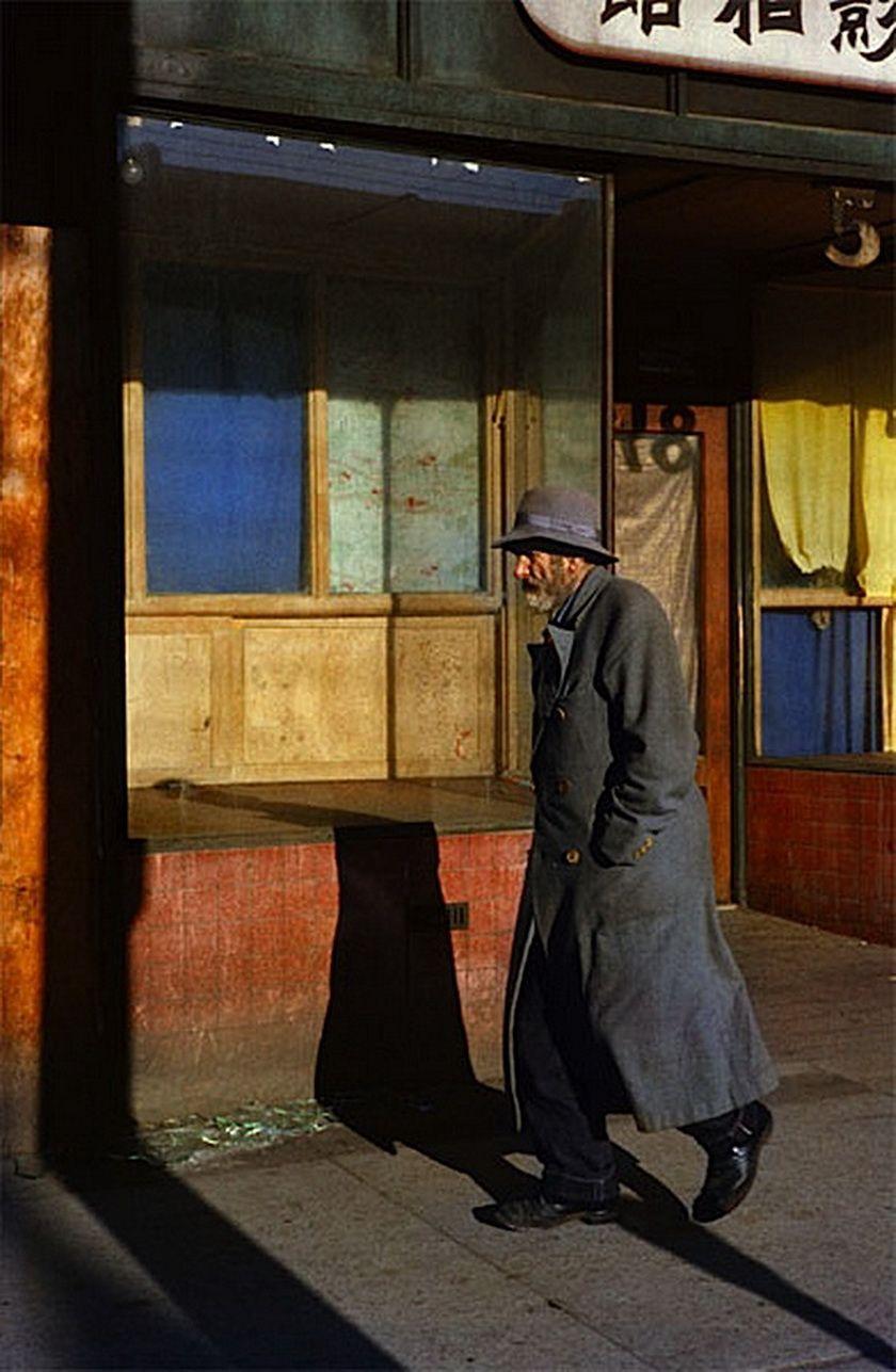 Fred Herzog, Old Man,1959. Kunstfotografie