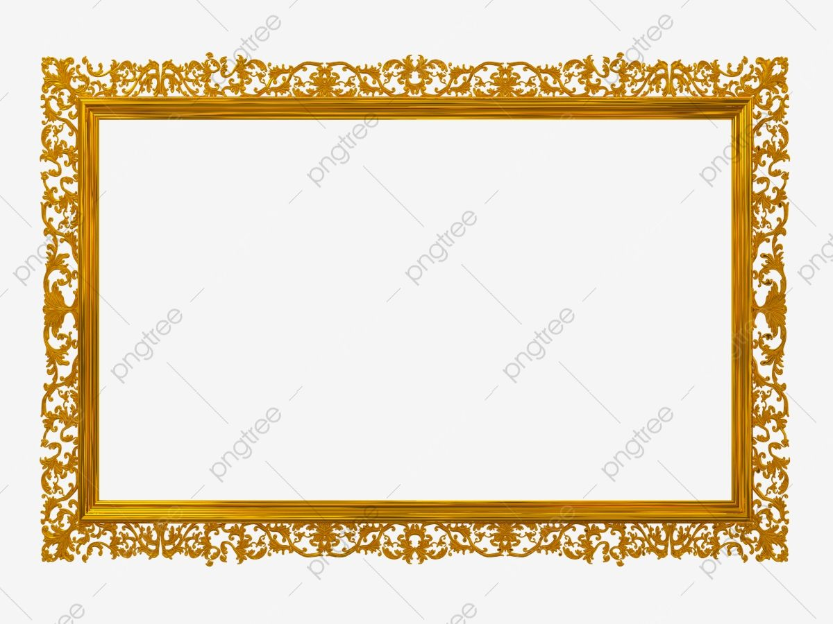Decorative Border Gold Photo Frame Border Clipart Photo Decorative Border Png Transparent Clipart Image And Psd File For Free Download Gold Photo Frames Decorative Borders Free Photo Frames